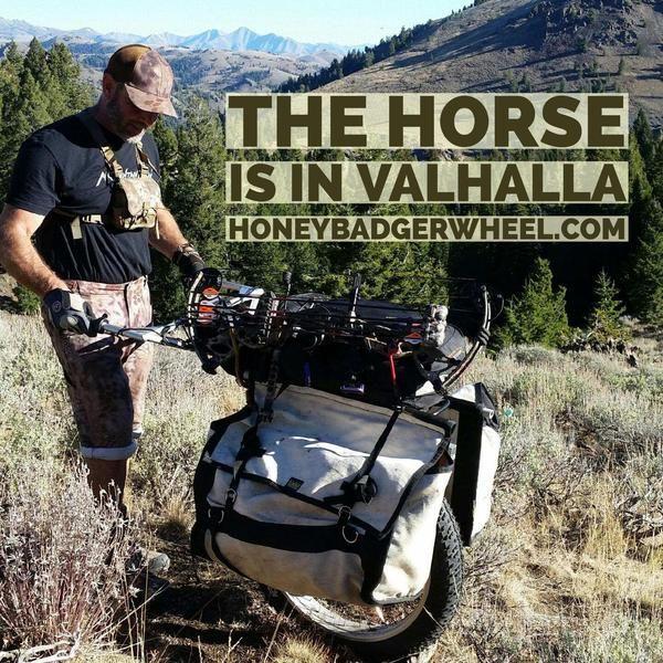 hunting carts honey badger wheels