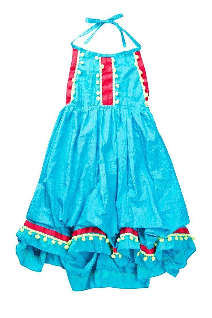 Infinity Turquoise with Pom Pom Dress