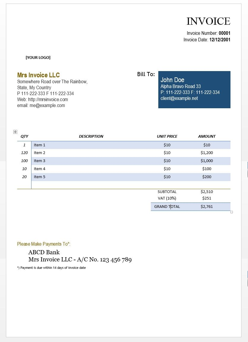 word document invoice template cool design consulting