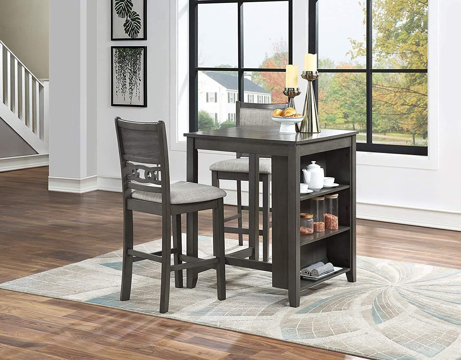 2 Chair Counter Height Dinette Table With Storage In 2021 New Classic Furniture Dining Room Bar Dining Room Sets Dining room sets for 2