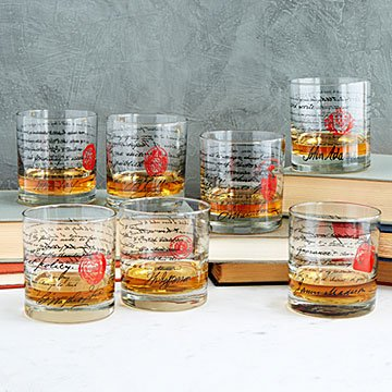 Founding Fathers Whiskey Glasses Benjamin Franklin 15 Each Via Uncommon Goods For Home Bar Whiskey Glasses Founding Fathers Gifts For Him