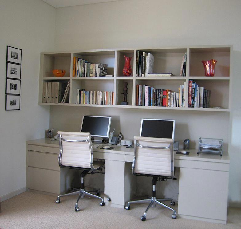 Custom Built Home Office For Two