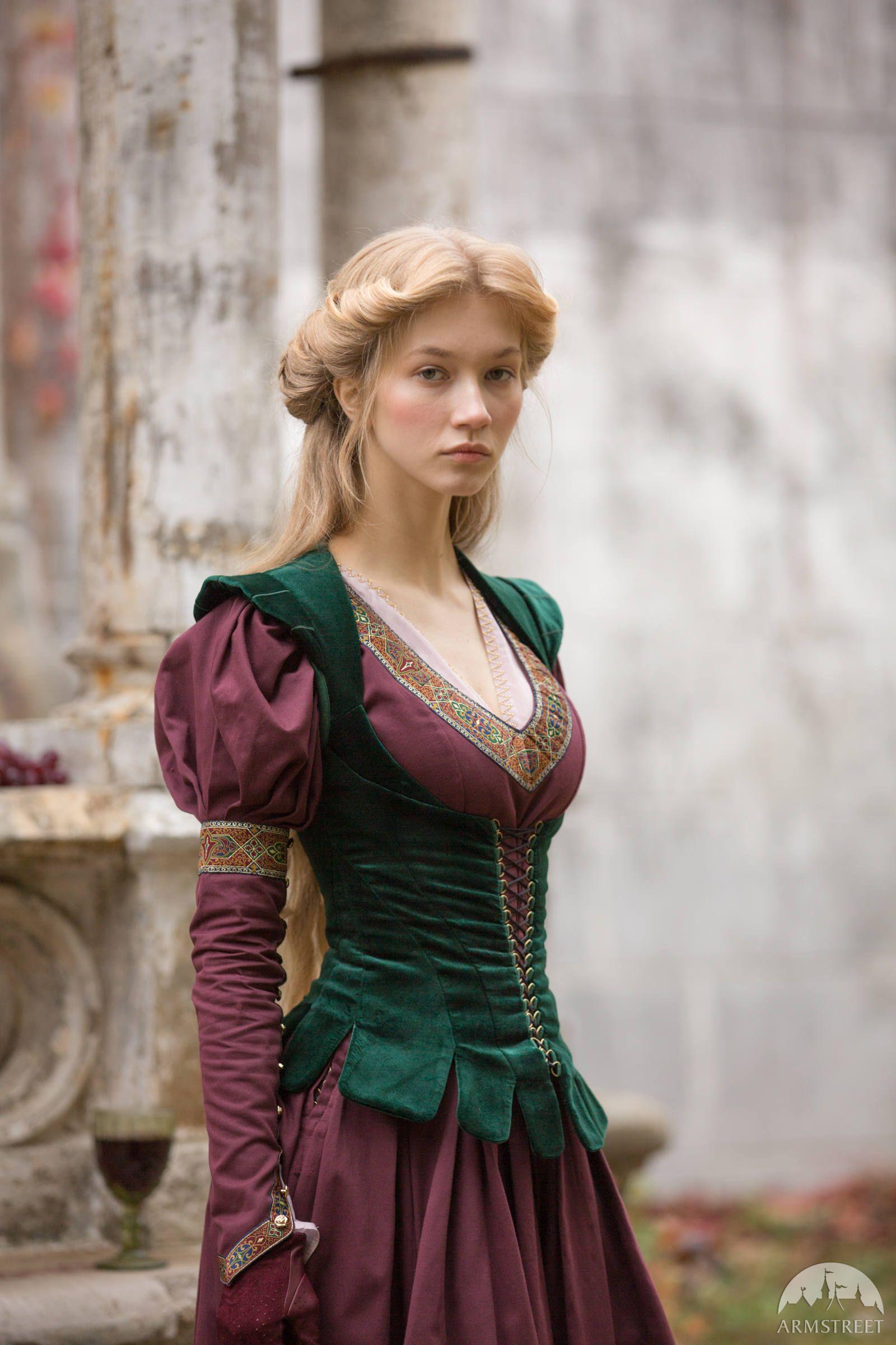 """Medieval Vest Bodice """"Princess in Exile"""";Fantasy B"""