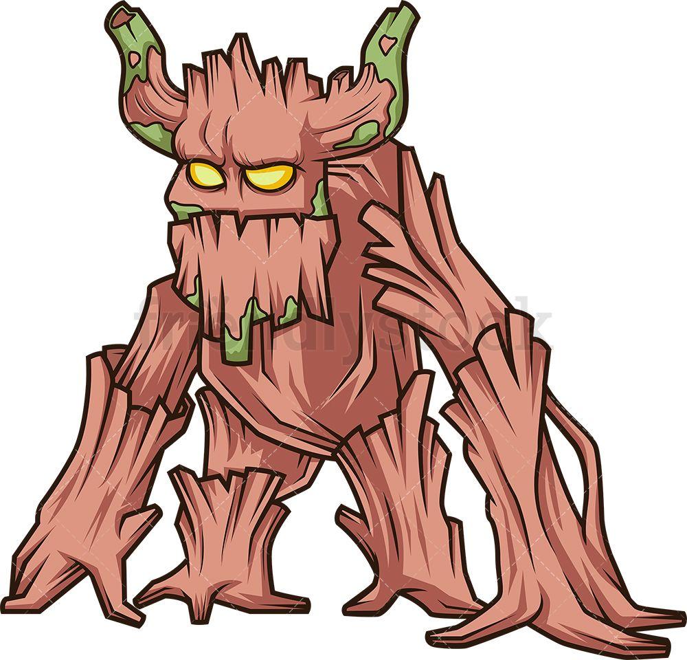 Enchanted Forest Monster Cartoon Clipart Vector Friendlystock Cartoon Clip Art Forest Creatures Enchanted Forest