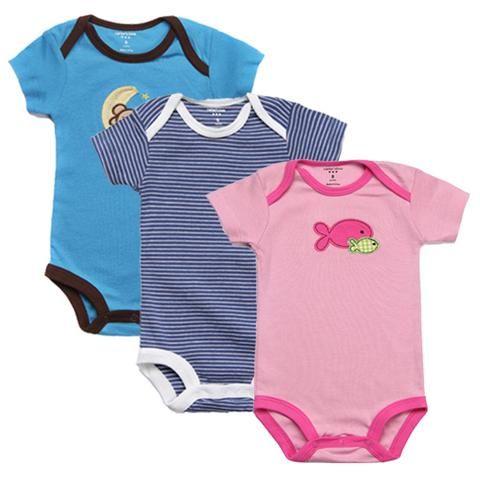8f1dfd0176ab 3pcs lot Newborn Clothes Set New Summer Baby Boys Girls Short Sleeve ...