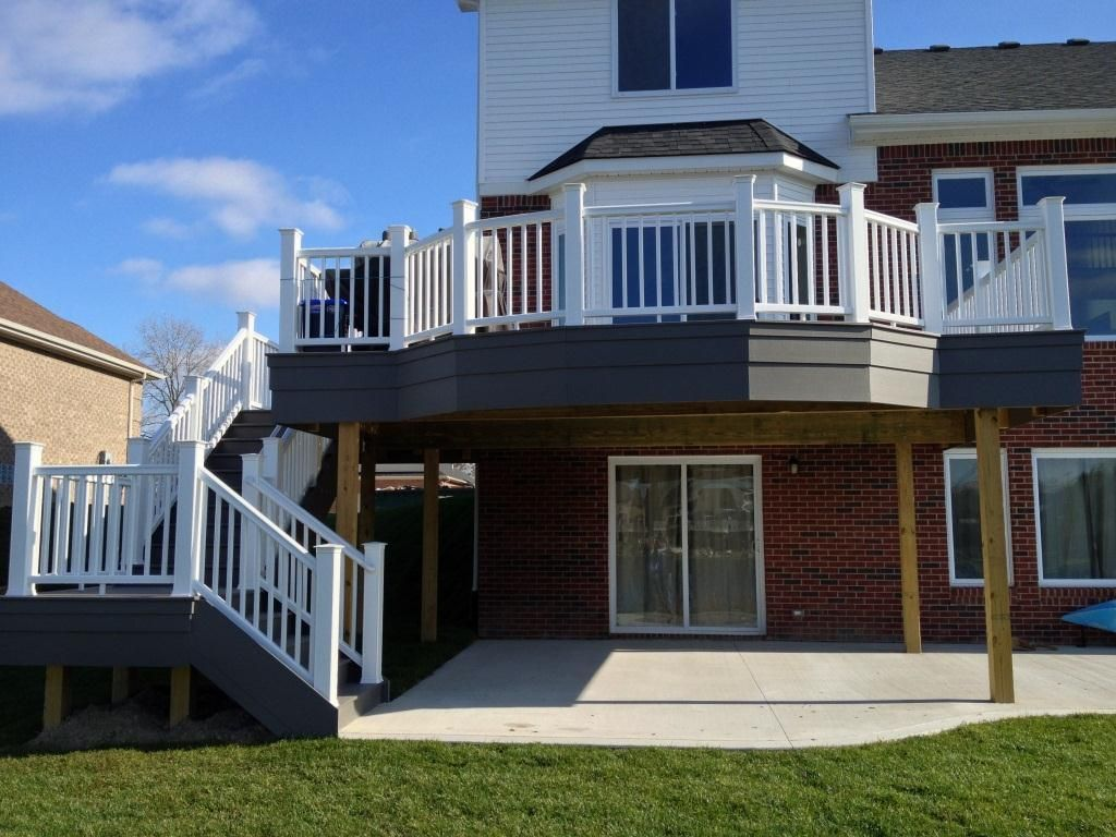 Good idea for the way the back of the house looks has the for Deck around house
