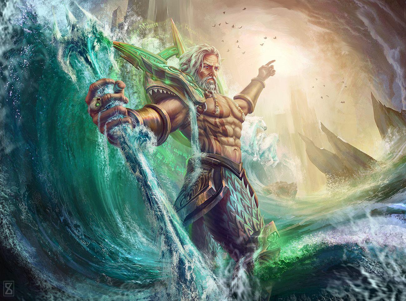 Greek/Roman God - Poseidon/Neptune Minecraft Skin