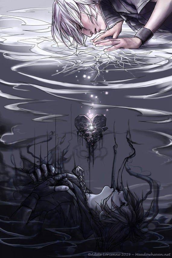 Photo of Kingdom Hearts Riku Sora Dream Drop Distance art print -Break-