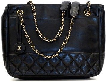 bdbb0884495f Chanel Designer Handbags Leather Cc Hang Tag Double Chain Shoulder Bag. Get  one of the hottest styles of the season! The Chanel Designer Handbags  Leather Cc ...