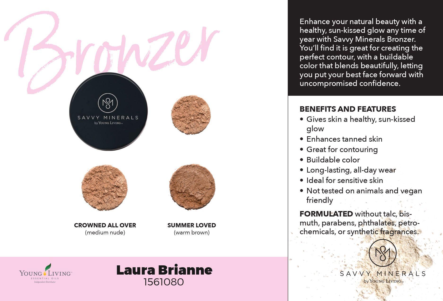 Mineral Bronzer shades Savvy minerals, Best face