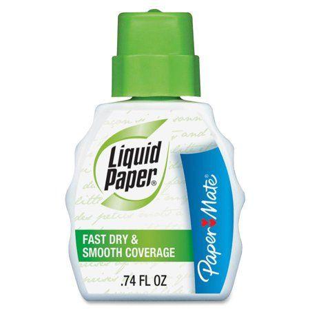 Paper Mate Pap5640115 Liquid Paper Fast Dry Correction Fluid 12 Dozen White Liquid Paper Correction Fluid Paper