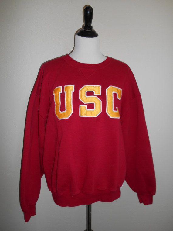 various colors a1cc5 1eba5 USC Trojans sweatshirt pullover clothing clothes 90s vintage ...