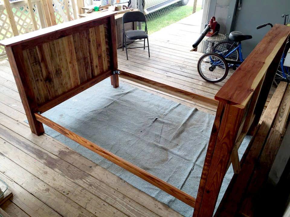In Voller Größe Palette Bett Rahmen Bettrahmen aus