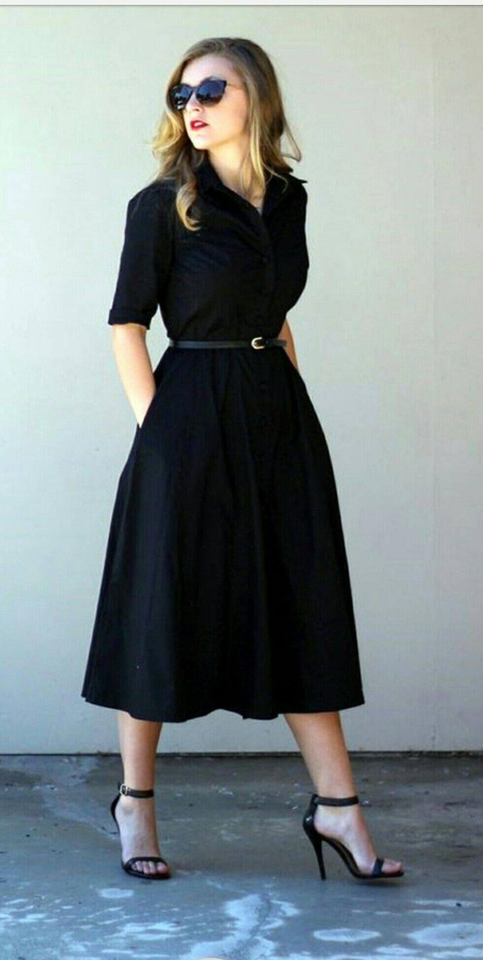 8c086e90517 Black dress office chic look  fashionstyle