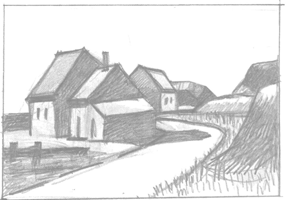 Drawing lessons for children: how to draw a house in pencil step by step