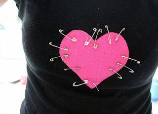 She didn't sew one bit & look how funky it is.  I like it!