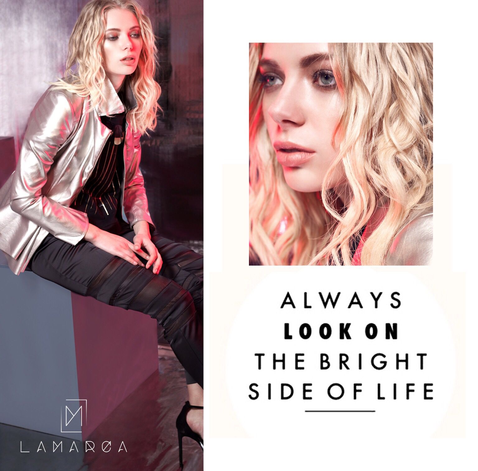 Have a nice Sunday ☀️ #alwayslookonthebrightside #goodmorning #sunday #new #collection #winter #style #sololamarca  #cometovisitus #website www.lamarcaofficial.it