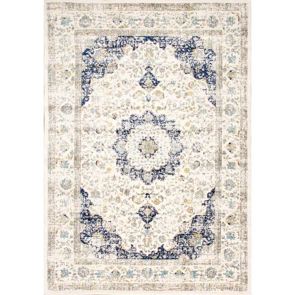 Nuloom Verona Vintage Persian Blue 9 Ft X 12 Ft Area Rug Rzbd07a