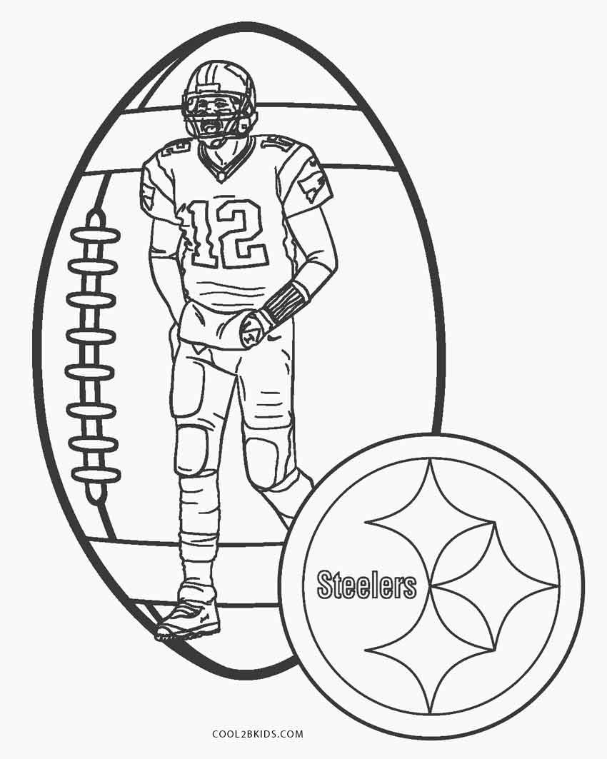 Coloring Football Pages Steelers 2020 V 2020 G