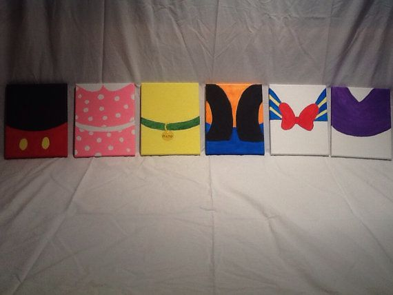 Disney Character Canvas  on Etsy, $25.00
