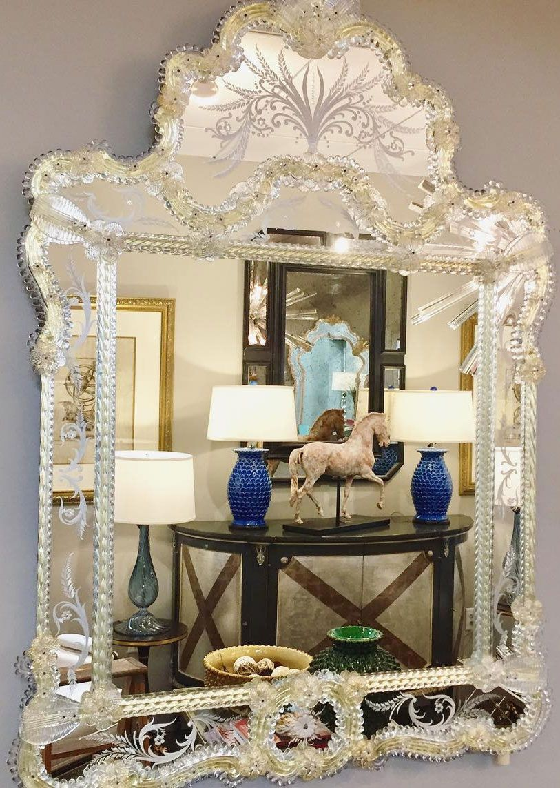 0cc9db0fed61 Murano glass mirror in a showroom; decorating ideas | in side and ...