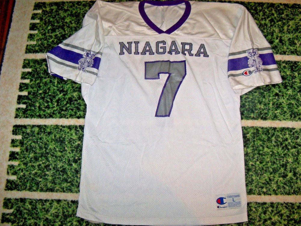 118f6d045c9 VTG 1990's Champion Game Used Worn Football Jersey High School College For  Jock