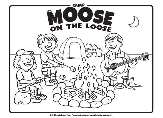 Free coloring pages are a great way to promote Camp Moose