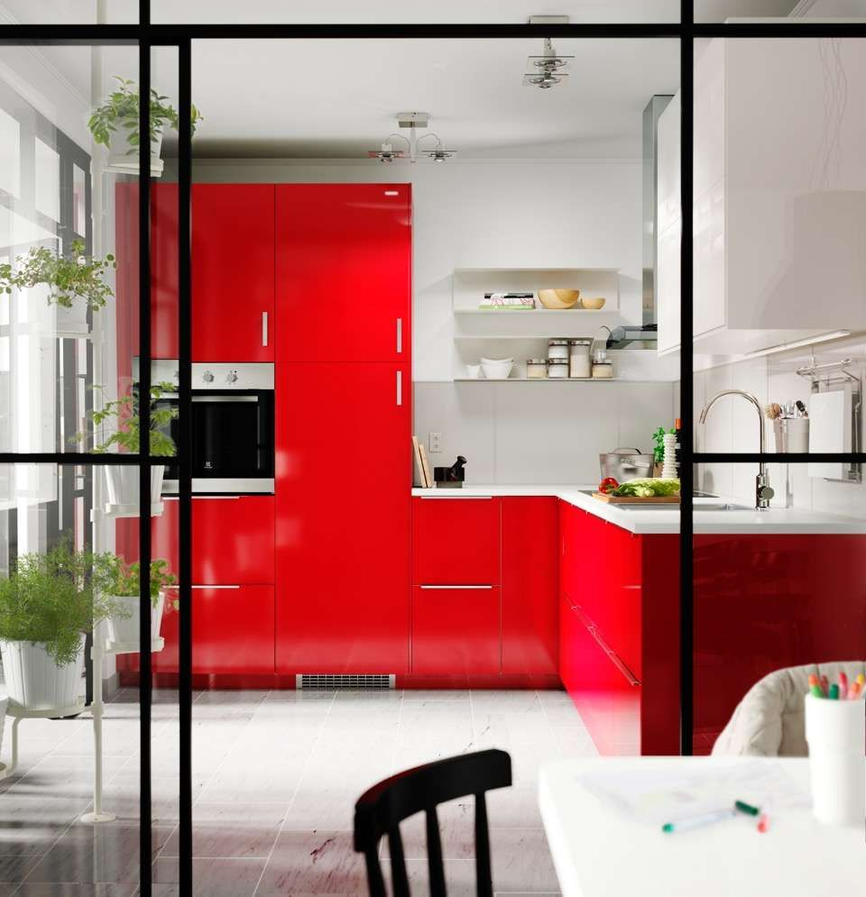 Cuisine Rouge Verriere Ikea
