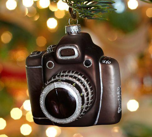 Vintage Camera Glass Ornament | Pottery Barn $10.50 - Vintage Camera Glass Ornament Holidays Ornaments, Christmas