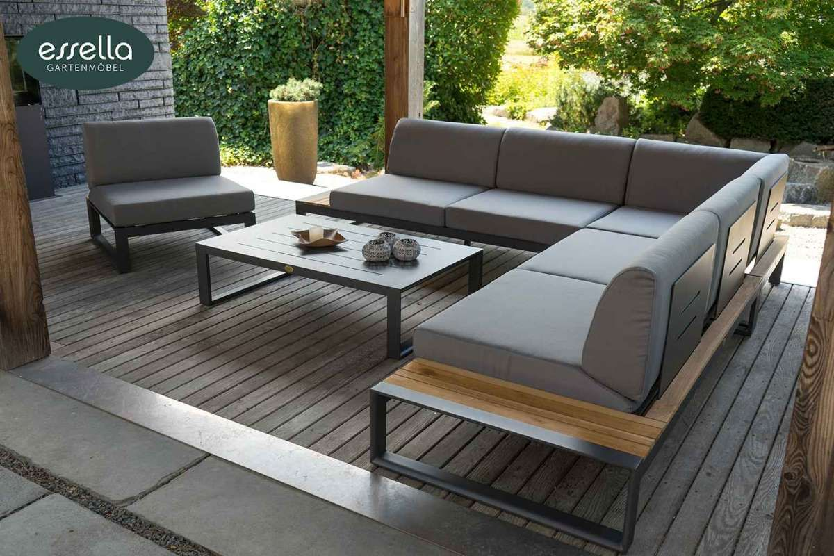 Exklusive Polyrattan Loungemobel In Hochster Qualitat Inkl Komfort Sitzpolstern Jetzt Direkt Vom Gartenmobel Hersteller Lounge Mobel Gartenmobel Design Teak