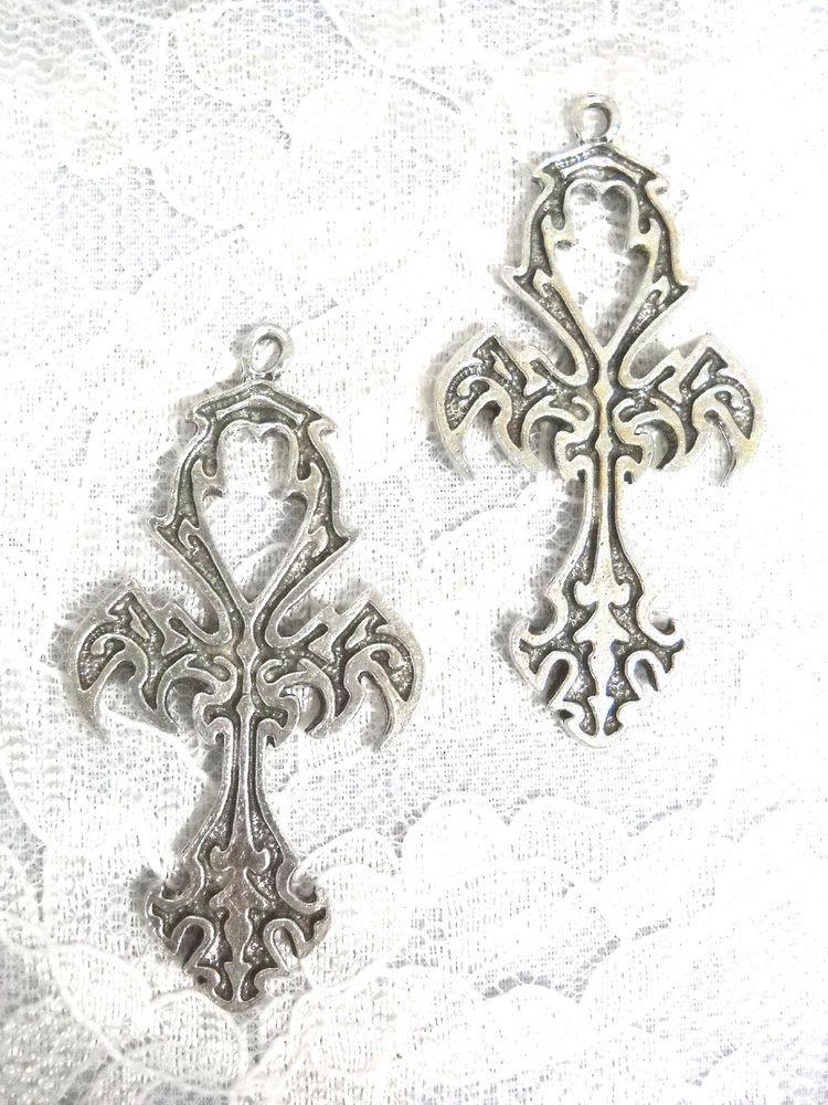 New Egyptian Eternal Life Symbol Anhk Cross Full Pendant Earrings
