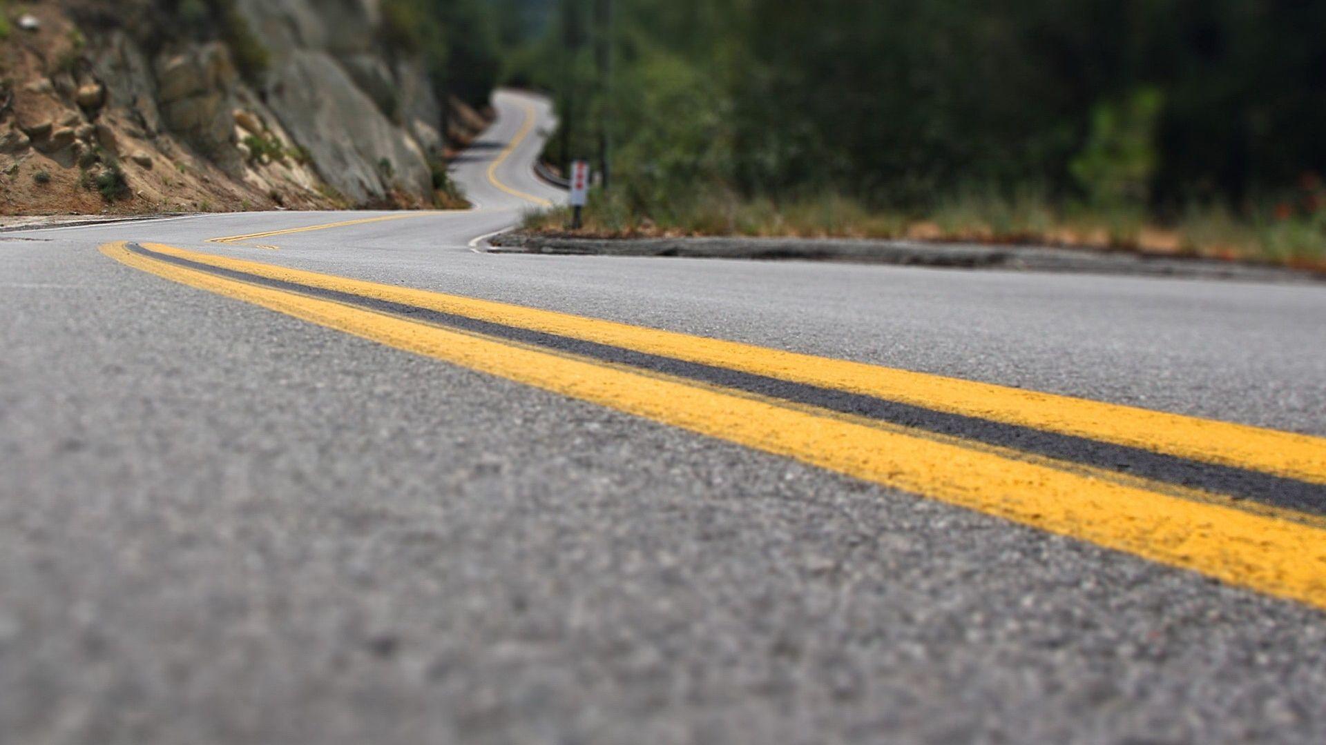 1920x1080 Wallpaper road, marking, lines, yellow, asphalt, turns