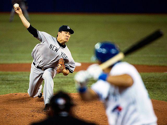 ニューヨーク・ヤンキースで活躍するプロ野球選手の田中将大 壁紙
