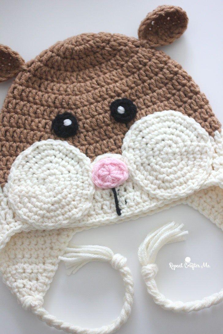 Crochet Hamster Hat | Crochet & Knitting | Pinterest | Croché ...