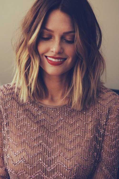 Medium length layered short hairstyles bangs