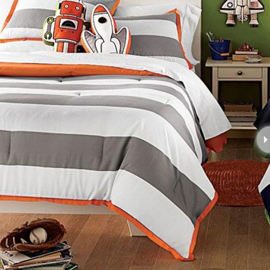 If You Re Looking For A Boyish Pattern That S Versatile Enough To See Him Through Various Ages Try This Bold Striped Duvet Cover It Will Easily Blend With