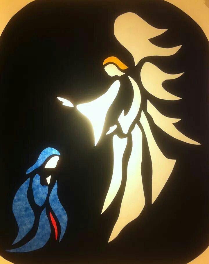 Maria En De Engel Weihnacht Fenster Fensterbilder Weihnachten Fensterbilder Weihnachten Basteln