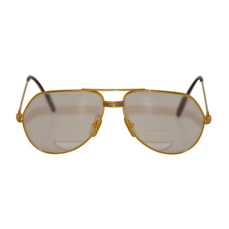 8ed6de61b61 Cartier Men s 18K Gold Frame Glasses