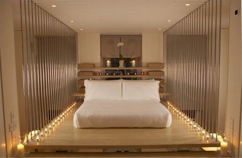 Striking mezzanine bedroom