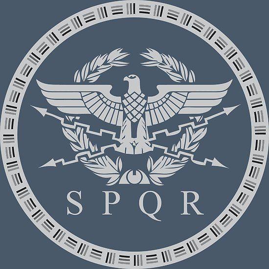 The Roman Empire Emblem. | Roman empire, Roman armor ...