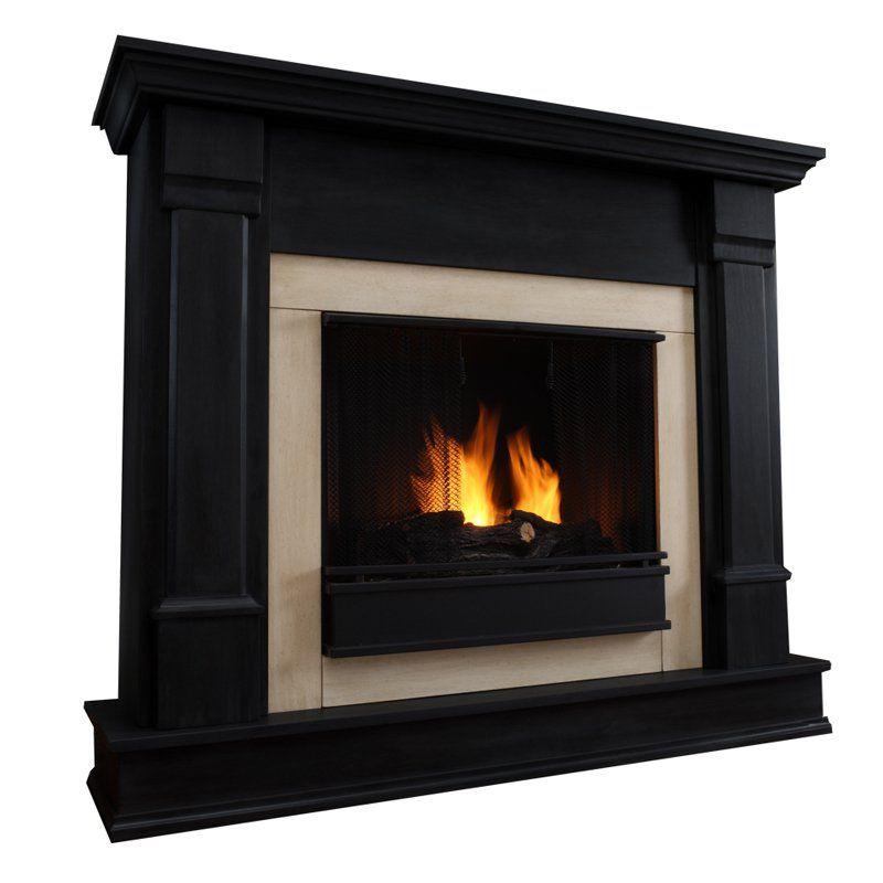 Real Flame Silverton Ventless Gel Fireplace - Black - G8600-B