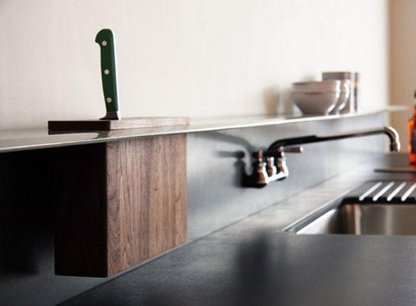 plank boven werkblad