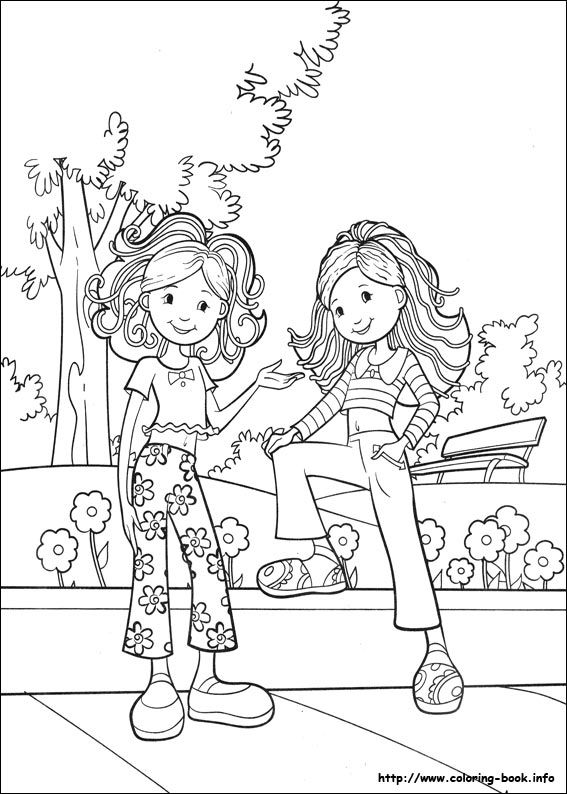 groovy girls coloring page - Girl Coloring Pages 2