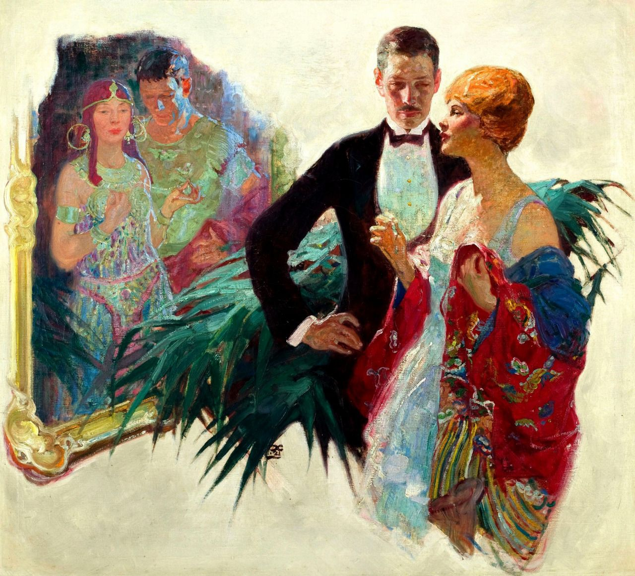 This Would Look Great In Our New Living Room Dean Cornwell Dean Cornwell Love Romance Vintage Retro Dean Cornwell Art Illustration Art