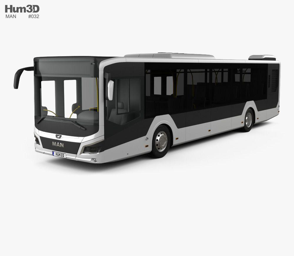 Man Lion S City Bus 2018 3d Model From Hum3d Com 3d Model Bus