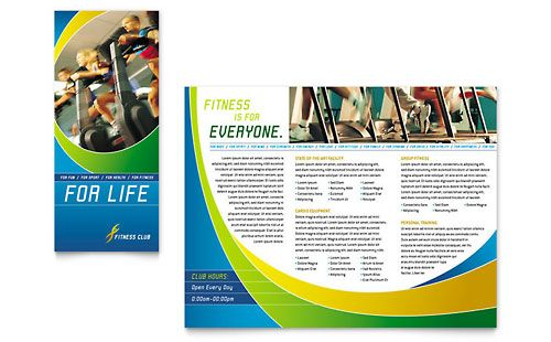 Sports  Health Club  Brochure Template Design Sample  Artsy