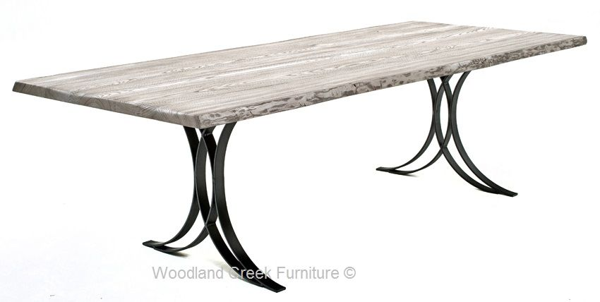 Modern Wrought Iron Base Unique Metal Table Base Slab Table