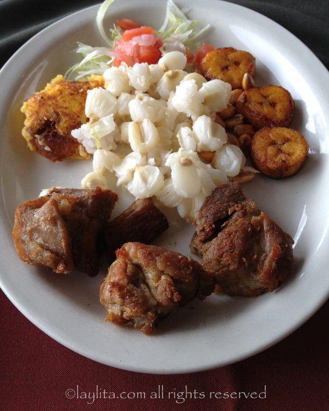 Eating Pork Fritada In Ecuador