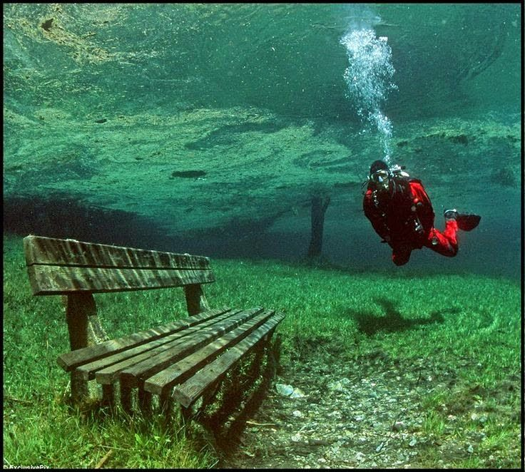A rare natural phenomenon turns one of Austria's most beautiful hiking trails into a 10 meter-deep lake, for half the year. Located at the foot of the Hochschwab Mountains, in Tragoess, Styria, Green Lake is one of the most bizarre natural phenomena in the world .. Shared by Chris Lancaster - Google+