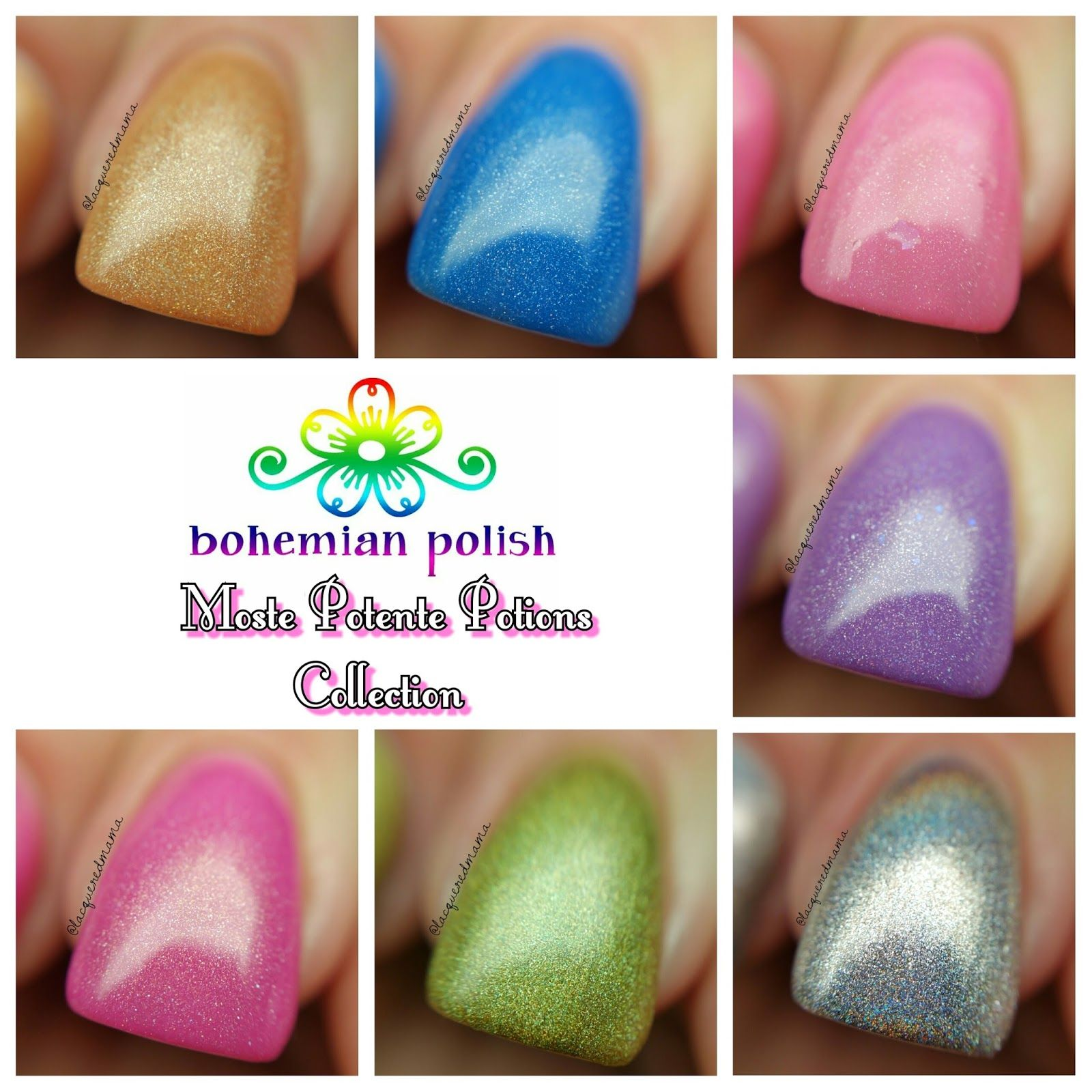 LacqueredMama: Bohemian Polish - Moste Potente Potions Collection (swatches and review)